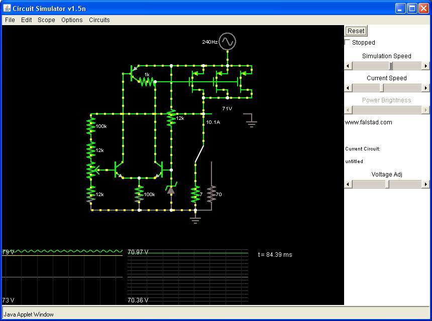 Circuitlab Constant Current Opamp Pnp