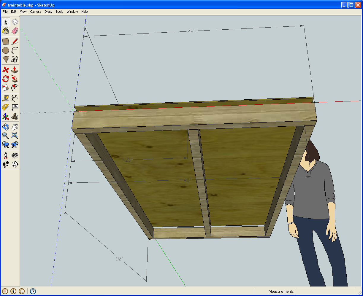 The sketchup'd model train table. - Adventures in Engineering